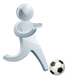 Football soccer silver man Royalty Free Stock Photography