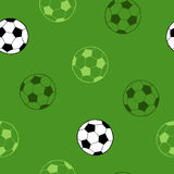 Football soccer sport ball graphic art green background seamless pattern illustration Stock Image