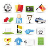 Football, soccer and sport icons Stock Photo