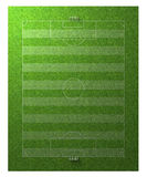 Football soccer sport playing field. Grassy green football soccer sport field 120x90m texture illustration Stock Image