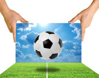 Football soccer stadium Royalty Free Stock Images