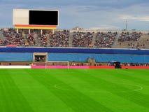 Football soccer stadium. Football stadium ,empty field Stock Photography
