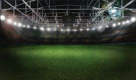 Football soccer stadium 3D rendering Royalty Free Stock Image