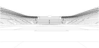 Football Soccer Stadium Illustration Vector Royalty Free Stock Images
