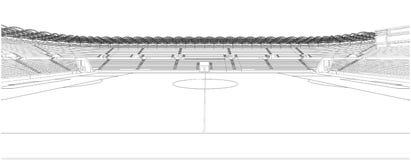 Football Soccer Stadium Illustration Vector Royalty Free Stock Photo