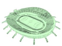 Football Soccer Stadium Vector 01 Royalty Free Stock Images