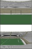Football Soccer Stadium Vector 11 Royalty Free Stock Images