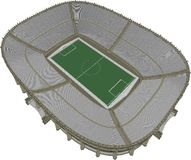 Football Soccer Stadium Vector 13 Royalty Free Stock Photo