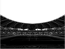 Football Soccer Stadium Vector 16. Football Soccer Stadium Isolated Illustration Vector Royalty Free Stock Photos