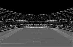 Football Soccer Stadium Vector Royalty Free Stock Photos