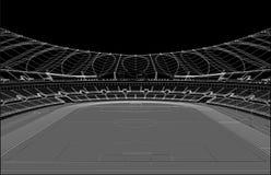 Football Soccer Stadium Vector Royalty Free Stock Photos