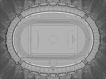 Football Soccer Stadium Vector Royalty Free Stock Photo