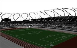Football Soccer Stadium Vector Stock Image