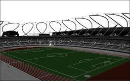 Football Soccer Stadium Vector Stock Image