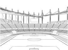 Football Soccer Stadium Vector Royalty Free Stock Photography