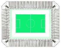 Football Soccer Stadium Vector Royalty Free Stock Image