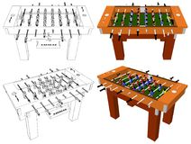 Football And Soccer Table Board Game Vector Royalty Free Stock Image