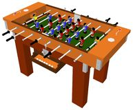 Football And Soccer Table Board Game Vector Royalty Free Stock Photo