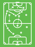 Football / Soccer Tactic Table. Line Art Stock Photography