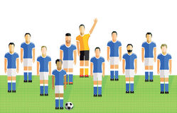 Football or soccer team Royalty Free Stock Images