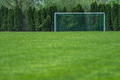 Football Soccer Terrain. Football field with fine green grass for training Royalty Free Stock Photos