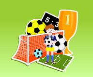 Football (soccer) theme Stock Image