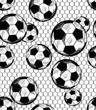 Football (soccer) theme seamless pattern Stock Photography