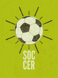Football/soccer typographic vintage grunge style poster. Retro vector illustration. Stock Image