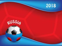Football, soccer world championship in russia. Concept background, vector Royalty Free Stock Photo