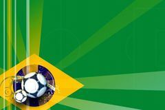 Football soccer world game. background brazil illustration Stock Photos