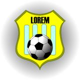 Football soccer yellow team logo with text royalty free illustration