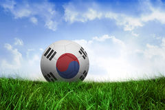 Football in south korea colours Stock Photo