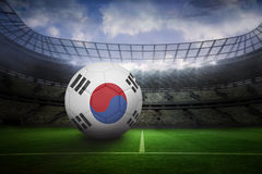 Football in south korea colours Stock Image