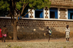 Football in South Sudan royalty free stock image