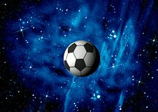 Football. Space abstract. Football.   Space abstract and ball Royalty Free Stock Photo
