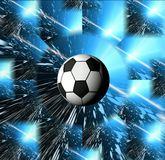 Football. Space abstract. Football and stars.   Space abstraction cover Royalty Free Stock Photography