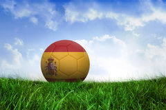 Football in spain colours Stock Photos