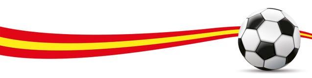 Football Spain Flag Long Header Stock Photos