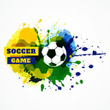 Football splash. Vector football splash design illustration Royalty Free Stock Photos