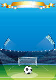 Football Sport Background. For Your Text Stock Image