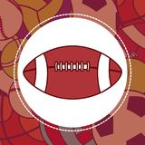 Football sport ball. Over sport balls background vector illustration graphic design Stock Images