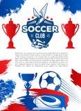 Football sport game banner for soccer club design Stock Photos