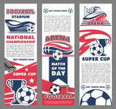 Football sport match banner of soccer championship Royalty Free Stock Photo