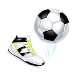 Football and sport shoe isolated Royalty Free Stock Photography