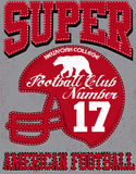 Football sport typography; t-shirt graphics; vectors Stock Photo