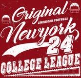 Football sport typography; t-shirt graphics; vectors Stock Photo