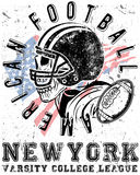 Football sport typography; t-shirt graphics; vectors Royalty Free Stock Photo
