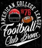 Football sport typography; t-shirt graphics; vectors Royalty Free Stock Photos