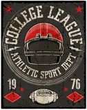 Football sport typography; t-shirt graphics; vectors Royalty Free Stock Image