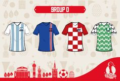 Football sport wear russia 2018. Vector illustration graphic design Royalty Free Stock Photos